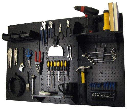 Wall Control Black Metal Pegboard Kit