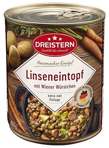DREISTERN Linseneintopf mit Wiener Würstchen 800g