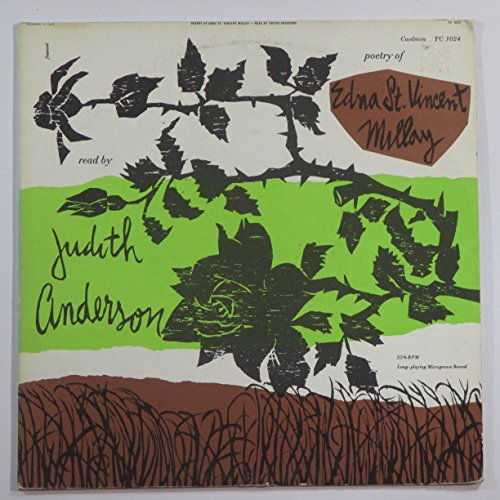 The Poetry of Edna St. Vincent Millay , read by Judith Anderson - vintage vinyl record