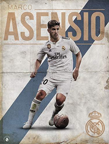 Grupo Erik Print Real Madrid Asensio, Multicolor, 30x40 cm