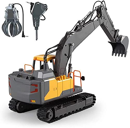 M-zen Control Remoto Camión Grúa Excavadora Juguete RC Tractor Cargador Remoto Coche...