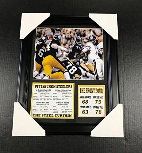 11x14 Framed & Matted Pittsburgh Steelers Steel Curtain 8X10 PHOTO