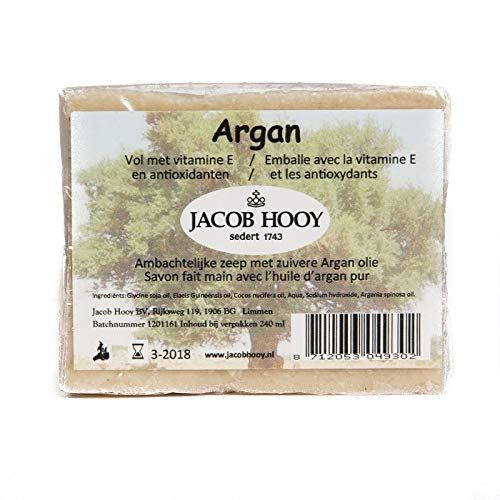 Jacob Hooy Argan Zeep Niet Vloeibaar, 240 Ml