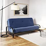 DHP Carson 8 Inch Thermobonded High Density Polyester Fill Futon Mattress, Blue