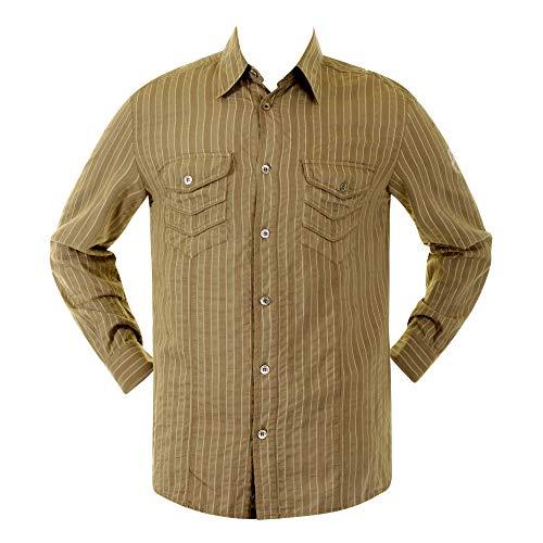 D & G dolce & Gabbana camicia kaki a righe camicia 16063845010YR DGM1462 Khaki X-Large