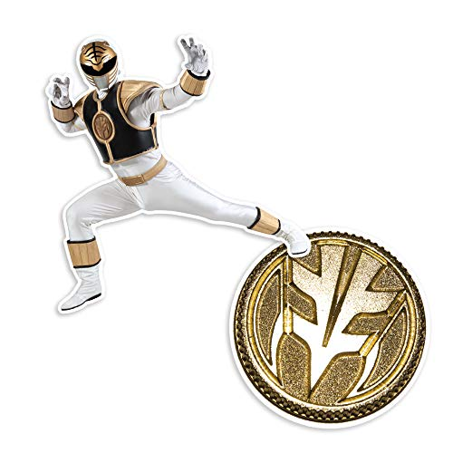 Popfunk Power Rangers White Ranger and Coin Collectible Stickers