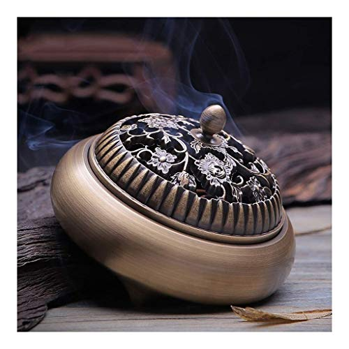 JIAHE115 Individual Aromatherapy Stove Cone Incense Censer - Antique Copper Tea Ceremony for Buddha Indoor Home Decoration Vaporizer Furniture Decoration Returning Aromatherapy furnac