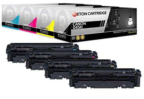4 Original Reton Toner | 25% höhere Reichweite | kompatibel zu 045H 045 für Canon LBP 613 Cdw LBP 611 Cn MF 635 Cx MF 633 Cdw MF 631 Cn
