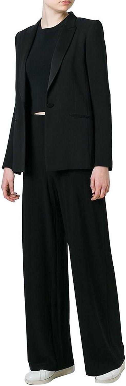 Norma Kamali  Straight Leg Pant  Black