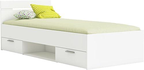 Kinderbett   Jugendbett Damboa 03, Farbe  Weiß- Liegefl e  90 x 200cm   (B x L)