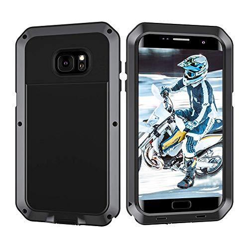 Beeasy Funda Samsung Galaxy S7 Edge,Antigolpes Rígida Robusta Antigravedad Carcasa Resistente al Impacto Militar Duradera Blindada Fuerte de Seguridad al Aire Libre Case Cover,Negro