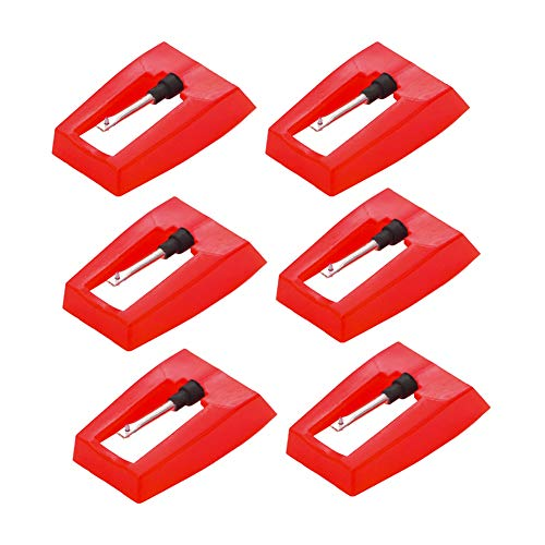 Record Player Needle, 6 Pieces Universal Diamond Replacement Stylus Needle for Vinyl Record Player ION iCT09RS Quick Play LP, Power Play LP, Quick Play Flash, Vertical Vinyl, Archive LP, Forever LP