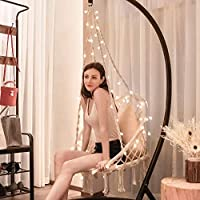 Vivohome Hanging Hammock Chair with 39 Feet Long LED Lights