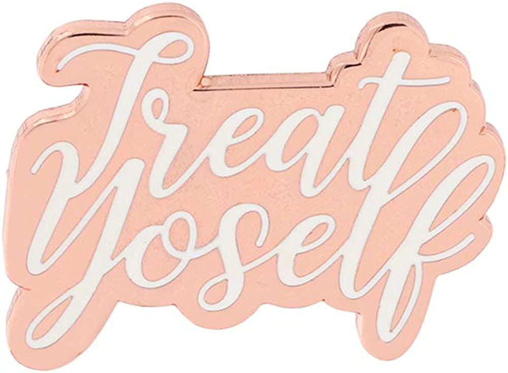 WizardPins Treat Yoself Inspired by Parks & Recreation Quote TV Series Enamel Pin