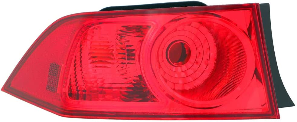 JP Auto 新品 送料無料 Outer Tail Light Compatible Tsx 2007 200 メーカー公式ショップ 2006 Acura With