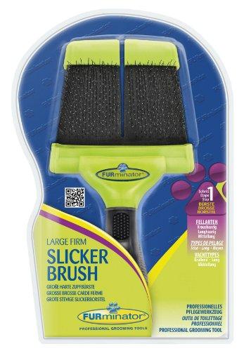 FURminator Slicker Brush with Hard Bristles for Dogs Large