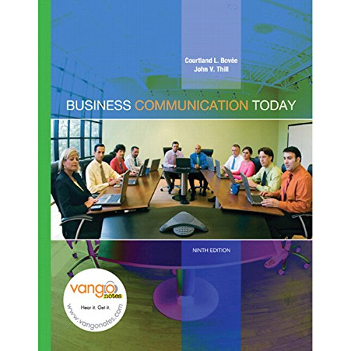 VangoNotes for Business Communication Today, 9e audiobook cover art