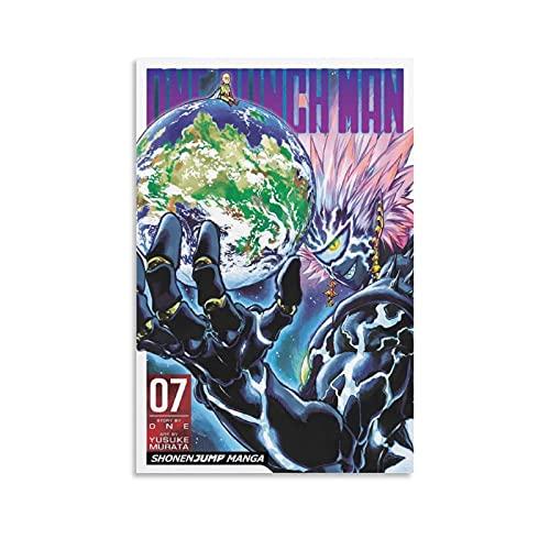 taoxin Página de portada de One Punch Man Vol 7Poster Pintura decorativa Lienzo de pared Arte de Sala de estar Carteles Pintura Dormitorio 30 × 45 cm