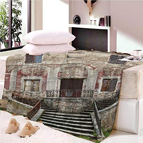 YASHASHII Blanket 3D Ancient house Printed Throw Blanket for Kids Child Adults Soft Warm Reversible Flannel Fleece Blanket for Bed and Couch 150 * 180CM