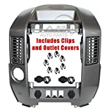 IAMAUTO 03450 Center Dash Radio AC Finisher Surround Bezel WITH Speaker Bezel For 2004 2005 Nissan Titan/Armada Models PRIOR to 8/2005(WITHOUT Navigation) CLIPS INCLUDED