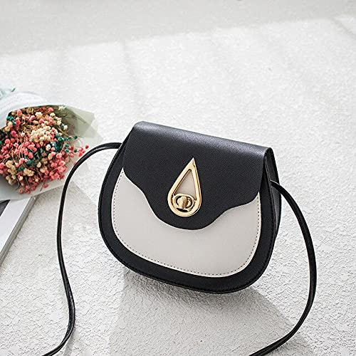 YICHENHAOYUAN bandoleras Bolsas para Mujeres 2021 Moda Bolso de Hombro Dama Distaff Bolso Monedero Pure PU Cuero Pequeño Cáscara Crossbody Messenger Bag (Color : 1)