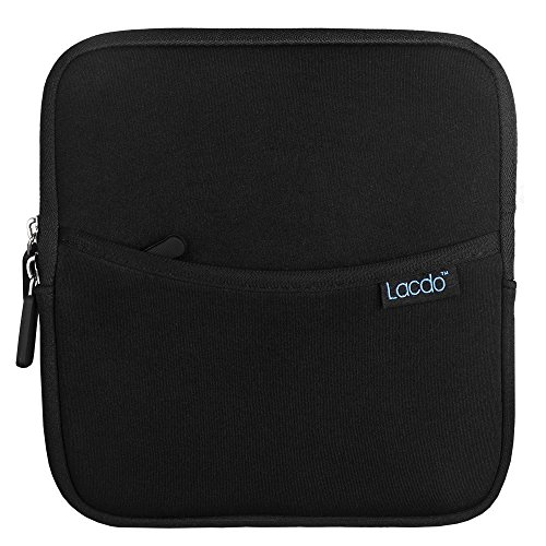 Lacdo Shockproof External USB CD DVD Writer Blu-Ray & External Hard Drive Neoprene Protective Storage Carrying Sleeve Case Pouch Bag With Extra Storage Pocket for Apple MD564ZM/A USB 2.0 SuperDrive / Apple Magic Trackpad / SAMSUNG SE-208GB SE-208DB SE-218GN SE-218CB / LG GP50NB40 GP60NS50 / ASUS External DVD Drives (Black)