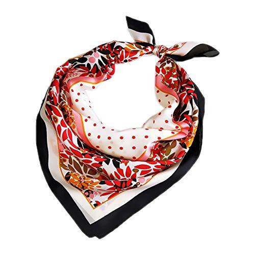 Brinube Bufanda de mano Pequeña Cinta Decoración Bufanda Correa de Hombro Bufanda Pequeña Bufanda Púrpura Flores Creativas 70 Cm Rayón Mujer Bufanda Colorida Bufanda de Seda