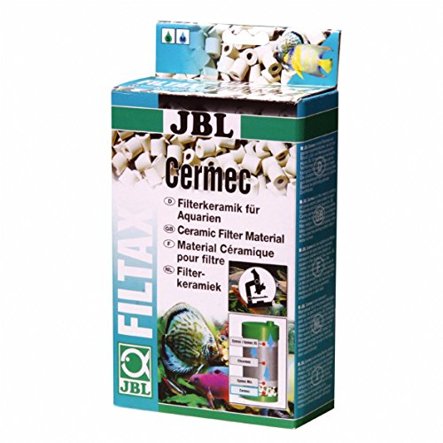 JBL Cermec 6237500, Keramische Filterröhrchen für Aquarienfilter, 1 L