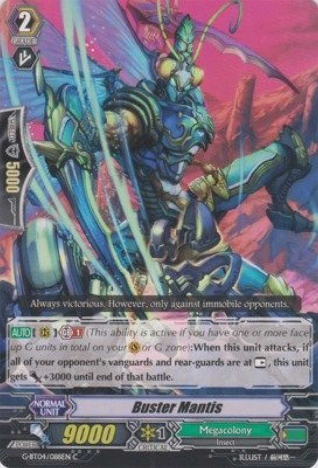 Cardfight   Vanguard TCG - Buster Mantis (G-BT04 088EN) - G Booster Set 4  Soul Strike Against The Supreme by Bushiroad Inc.