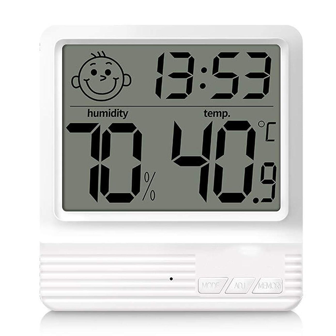 ビザレジ第二にHN 湿度計、時間表示と電子温度湿度計室内大画面デジタル温度計乾燥湿度計 (Size : A)