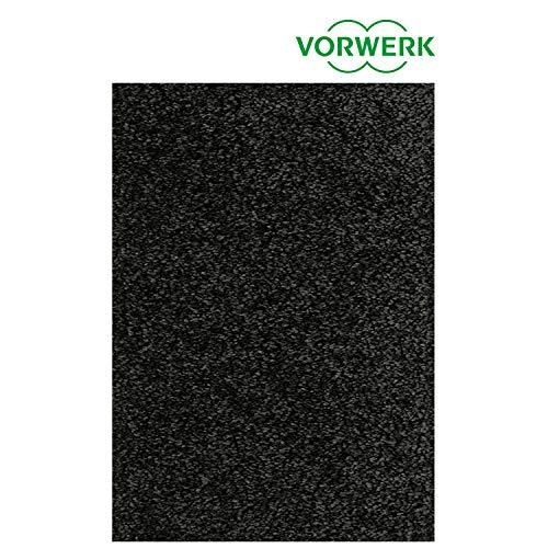 Vorwerk vlakpolig tapijt effen zwart donker woonkamer 400/500 cm zwart