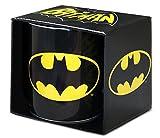 DC Comics - Superheld - GC - Batman - Logo - XXL Porzellan Tasse - Kaffeebecher - schwarz -...
