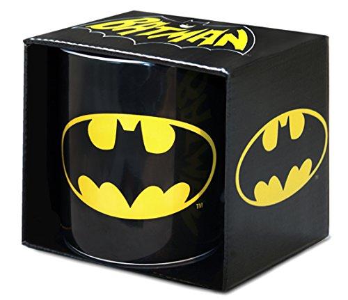 Logoshirt - DC Comics - Superhero - Batman Logo - XXL - Jumbo Porzellan Tasse - Kaffeebecher - schwarz - Lizenziertes Originaldesign