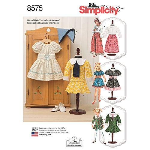 Simplicity Creative patronen poppenkleding, One size