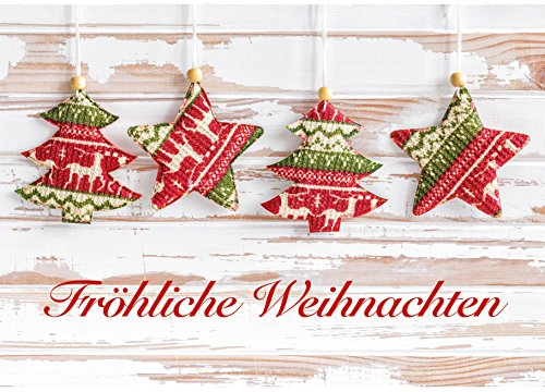 10biglietti di Natale, cartoline, biglietti d' auguri di Natale, Natale, 10stesso Cartoline im Set, formato DIN A6