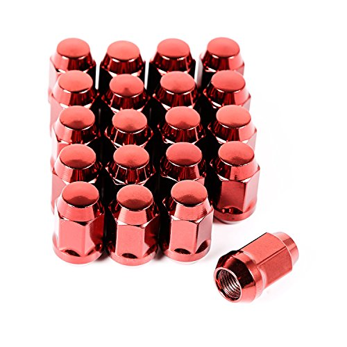 Rugged Ridge 16715.24 Wheel Lug Nut, Set of 20, 1/2-20, Red