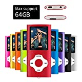 Mymahdi MP4 MP3 / Portable, Red with devaient 180 inch Screen and LED Memory Card, Max Support 128GB