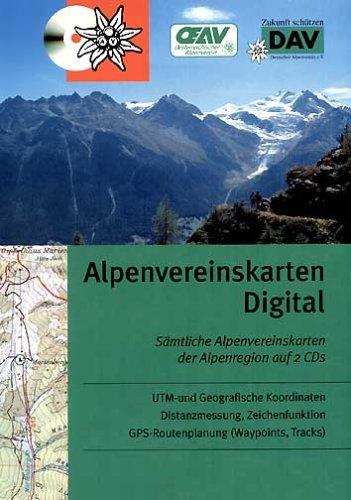 Alpenvereinskarten Digital: 2 CD-ROM mit allen 49 Alpenvereinskarten der Ostalpen (Wegmarkierungsausgaben)
