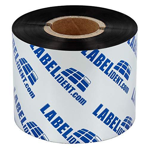 Labelident Thermotransfer Farbband Harz schwarz, 40 mm x 300 m, für alle Folienetiketten, für Etikettendrucker 2 Zoll Druckbreite