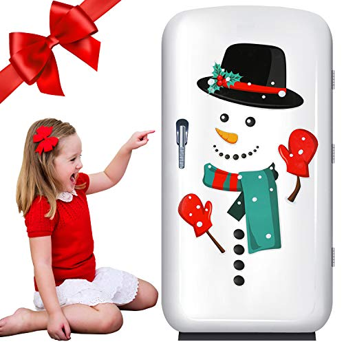 jumping meters Christmas Decorations Refrigerator Magnets Set,12PCS Funny Snowmen Fridge Magnets Stickers Christmas Holiday Kitchen Decor Indoors for Fridge,Dishwasher,Metal Door,Office Cabinets