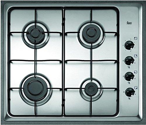 Teka HLX 60 4G AI AL integrierter Gas Kochfeld, Edelstahl, 1000 W, 1750 W, Edelstahl