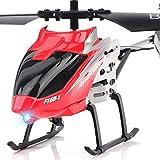 YANGLOU-Aviones de juguete- RC Helicopter Control remoto Helicóptero Aircraft Juguetes de 2.5 canales Aviones Mini Resistente a la aleación incorporada Gyroscopio Remoto Radio Radio para exteriores Re