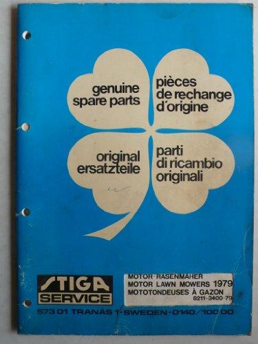 TIGA Motor-Rasenmäher Popular, President, RA-Dino, RB-Dino, Dino EL,BA 20, BB 800, BE 220, TB 300/500, SB 50, CB 700, JB 300/400/500 – Ersatzteilliste