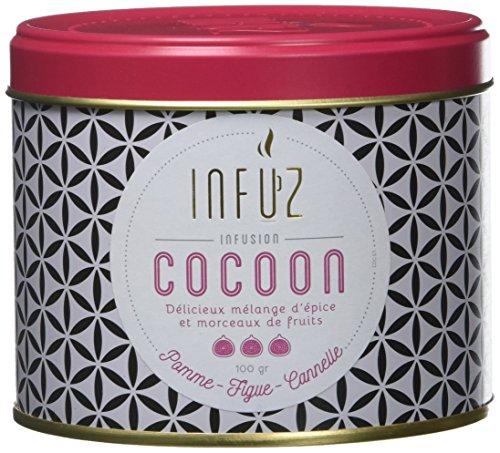 Infuz – Infusion Cocoon – Infusion en Vrac – Un Moment de Pure Douceur pour Se Chouchouter Le Soir – Cannelle, Pomme & Figue, 100G