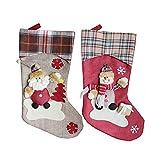 youler Medias de Navidad,Papá Noel/Muñeco Nieve Calcetines,para Decoración de Navidad, Bolsa de Dulces, Bolsa de Regalo.