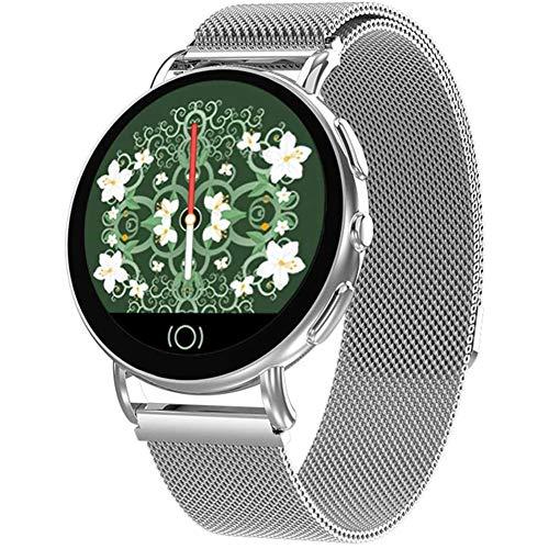 LYYAN Inteligente IP68 Reloj Inteligente a Prueba de Agua Pantalla Táctil en Color de 1.3 '' Rastreador de Ejercicios Bluetooth con Notificación Monitor de Sueño con Frecuencia Cardíaca Reloj