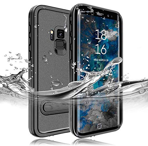 RedPepper Samsung Galaxy S9 Waterproof Case[5.8-Inch], IP68 Full Sealed Underwater Protective Cover, Shockproof, Snowproof, Dirtproof for Outdoor Sports (Black)