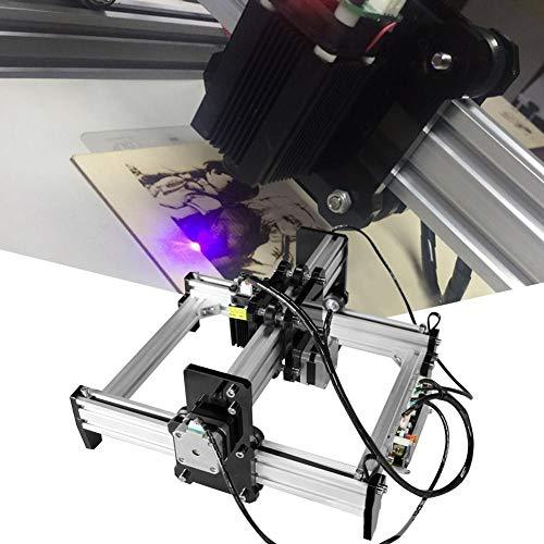 Machine de gravure, graveur laser, kit d'imprimante de machine de découpe de gravure de bureau 100-240VAC 1.6W bricolage(Prise UE)