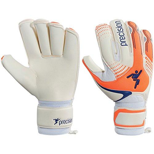 Precision GK Fusion-X Rollfinger Torwarthandschuhe Size 10.5 White/OrangeBlue