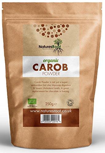 Natures Root Poudre de caroube bio - Substitut de cacao - Produit cru, végan et sans gluten